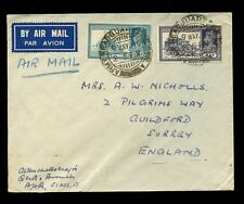 INDIA KG6 1940 AIRMAIL PICTORIALS 8A + 6A...ARMY HEADQUARTERS POSTMARKS SIMLA