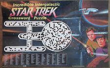 Giant Crossword Puzzle Poster '76 vtg Star Trek Tos U.S.S. Enterprise Kirk Spock