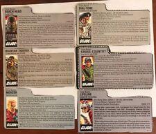 Vintage GI Joe File Card Lot of 6