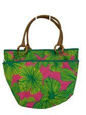 Lilly Pulitzer beach Tote Bag purse handbag pink green tropical
