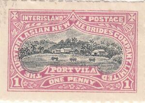 Australian New Hebrides Company 1897- Port Vila Inter Island Postage 1d penny MH