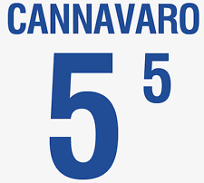 ITALIA CANNAVARO NAMESET 2002 SHIRT CALCIO Numero Lettera di calore stampa CALCIO AWAY