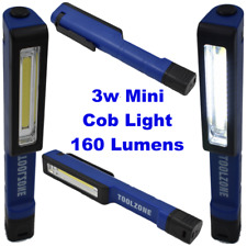 3W Mini COB Led Torch Flashlight 160 Lumens Pocket Swivel Clip Magnetic Pen