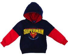 Kids Boys Disney SUPERMAN Jumper Cotton Long Sleeves Hooded Sweat Tops,2-8YRS
