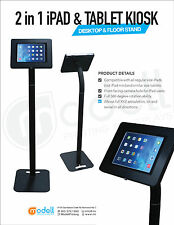 2-in-1 iPad 2, 3, 4 and tablet floor/desktop stand.