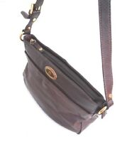Etienne Aigner Four-Compartment Dark Burgundy Leather Shoulder Bag