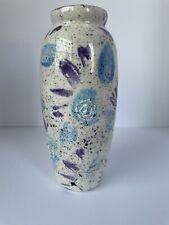 Handmade Speckled Vase Length 7in
