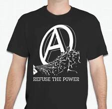 REFUSE THE POWER Anarchist cat kitty anarchy T shirt
