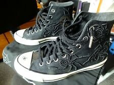 Converse Chuck Taylor Black high top Dr Woo The spider & the fly size UK8.5