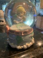 2003 Precious Moments Musical Water Snow Globe  Joy To The World  Peace on Earth