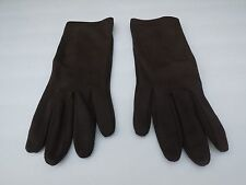 *DESIGNER LADIES BROWN NYLON DRESS GLOVES UNLINED SIZE ONE SIZE FITS MOST