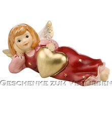 Goebel Engel Schutzengel Herzensgut 14 cm lang bordeaux Neuheit 2014 liegend