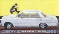 1966 Chevrolet Chevy II Nova Sales Brochure Literature Book Specifications