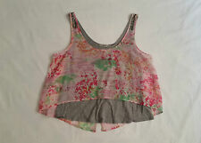 AS NEW Size 12 Just Jeans Casual Singlet Tank Top Layered Pink Pastel Grey