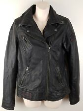 Harley Davidson Ladies Rebel's motorcycle Genuine Leather jacket small biker