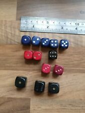 13 Vintage Wooden Dice Replacement Dice For Board Games
