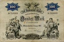 Germany 100 Mark 1907 Mannheim No788009