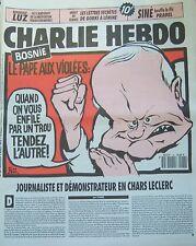 CHARLIE HEBDO No 36 MARS 1993 RISS LE PAPE S ADRESSE AUX VIOLEES DE BOSNIE