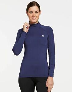 Solbari UV Sun Protection Women's Long Sleeve Turtleneck Top UPF 50+ CoolaSun