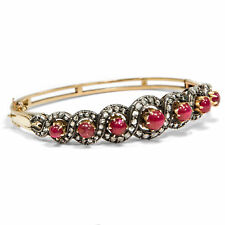 Love Knot : Vintage Diamond & Ruby Bracelet in Gold & Silver, 1970er Years