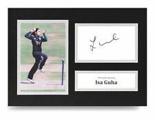 Isa Guha Signed A4 Photo Display Cricket Ashes Autograph Memorabilia + Coa
