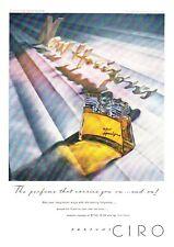 "1947 Ciro New Horizons Perfume Bottle photo ""Poised-for-Flight"" vintage print ad"