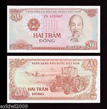 Vietnam 200 Dong 1987  P-100a  UNC