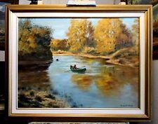 CANOEING ON THE ARKANSAS original oil painting by Richard R. Nervig