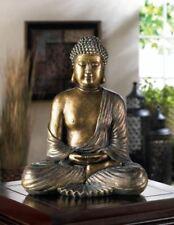 "large 12"" Thai BUDDHA Zen lotus postion sitting Meditation peace statue Hindu"