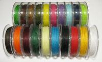 Gewachste Baumwolle 1,00 mm Stärke 10 m Länge (Grundpreis: 0,25 €/m)