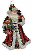 Santa Claus with Toys and Present Polish Glass Christmas Tree Ornament Holiday