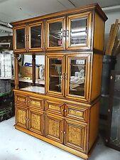 Teak Wood carved Mid Century MOD Custom Bar stereo Entertainment display cabinet