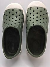 Old Navy Toddler Baby Shoes Size 7 Slip On Perforated Green with White Unisex