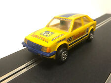 Scalextric C446 Ford Escort XR3i SupaSnaps Yellow Blue Vintage Slot Car