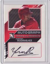2011 ITG Heroes Prospects Close Up Autograph Silver Yorman Rodriguez 1/190 Auto
