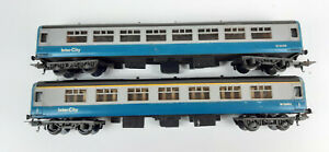 LIMA B.R. MK2 PASSENGER COACHES X 2 GOOD CONDITION THESE ARE HO SCALE NOT OO(WD)