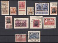 B2537/ GERMANY WWI WESTERN FRONT – MI # 1 – 3 / 12 USED – CV 225 $