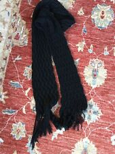 WAREHOUSE chunky Long Scarf Black Excellent Condition