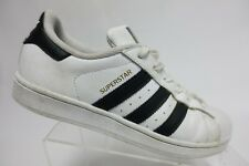 ADIDAS Superstar White/Black Sz 8 Men Leather Sneakers