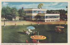 Au Parasol Hôtel & Cabines CHICOUTIMI Quebec Canada 1940 PECO Postcard 33B
