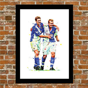 BLACKBURN ROVERS - SHEARER AND SUTTON FRAMED ART PRINT POSTER
