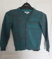 Mexx Lovely Boys Knit Cardigan Smart Button Up Age 6-8 years Turquoise Blend