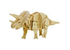 Walking Dinosauro 3D Puzzle in Legno fai da te TRICERATOPO Modello Kit Puzzle giocattolo artigianale