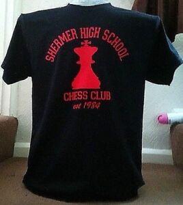 "BREAKFAST CLUB INSPIRED ""SHERMER HIGH SCHOOL CHESS CLUB"" MEN'S HEAVY T-SHIRT."