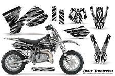 KTM SX50 2002-2008 CREATORX GRAPHICS KIT DECALS BOLT THROWER WHITE