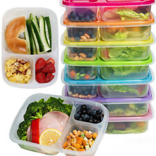 Meal Prep Containers 3-Compartment Lunch Boxes Food Storage with Lids Portable