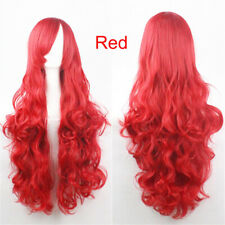 Temperature Fiber Synthetic Cosplay Costume Party Curly Wavy Hair Full Wigs
