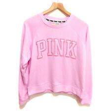 NEW Genuine PINK VICTORIA'S SECRET Pink Logo Sweatshirt Jumper Womens Size Small
