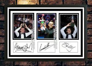 (510) davis o`sullivan hendry snooker signed photograph unframed/framed reprint