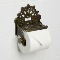 Vintage Toilet Roll Holder Victorian Copper Unusual Edwardian Antique Bronze Old